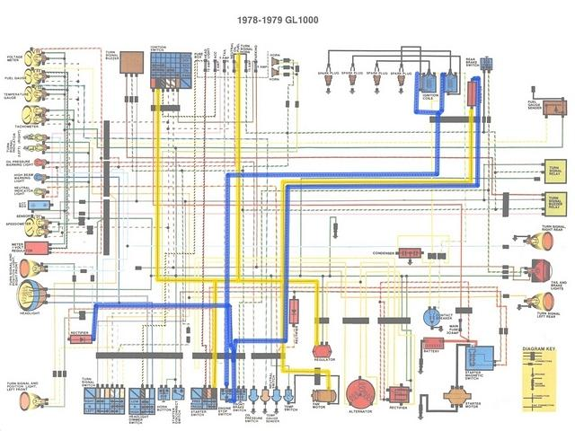 photo :: 1978 79 gl1000 colour schematic b  ngwclub